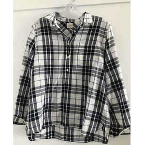 J Crew Plaid Gauze Popover Shirt- like new
